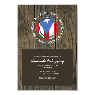 Puerto Rican Pride: Boricua Birthday 3.5x5 Paper Invitation Card