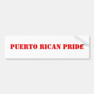 puerto rican pride car bumper sticker