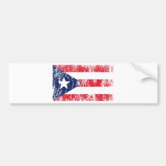 Puerto Rican Pride Flag Bumper Sticker