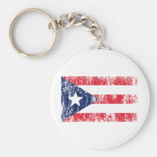 Puerto Rican Pride Flag Keychain