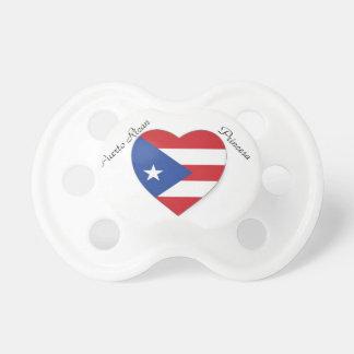 puerto rican pride heart paci pacifier