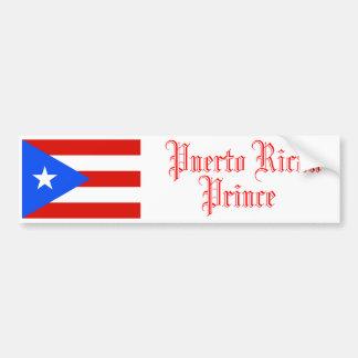 Puerto Rican Prince, Bumper Sticker Car Bumper Sticker