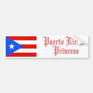 Puerto Rican Princess, Bumper Sticker Car Bumper Sticker