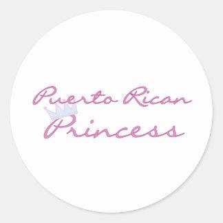 Puerto Rican Princess Round Stickers