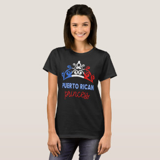 Puerto Rican Princess Tiara National Flag T-Shirt