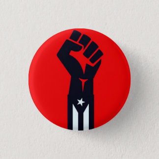 Puerto Rican Resistance Fist Pinback Button