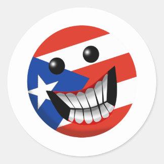 Puerto Rican Smile Classic Round Sticker