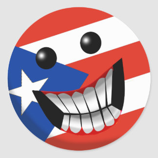 Puerto Rican Smile Round Stickers