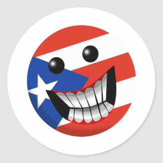 Puerto Rican Smile Round Sticker