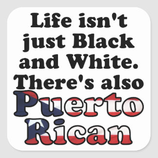 Puerto Rican Square Sticker