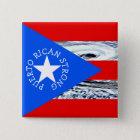 Puerto Rican Strong Hurricane Flag Button