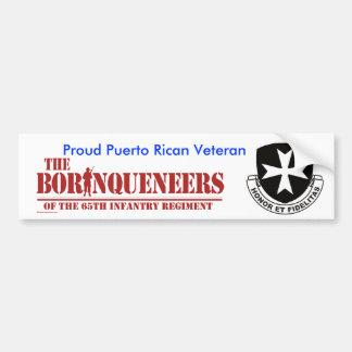 Puerto Rican Veteran 2 - Bumper Sticker Car Bumper Sticker