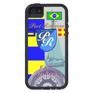 Puerto Richman que navega la bandera brasileña náu iPhone 5 Case-Mate Protector