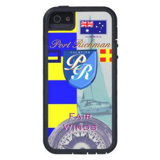 Puerto Richman que navega la bandera de Australia iPhone 5 Case-Mate Cárcasa