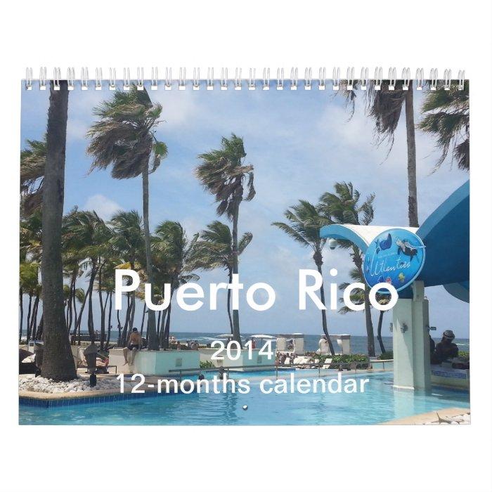 Puerto Rico 12 months Calendar 2014