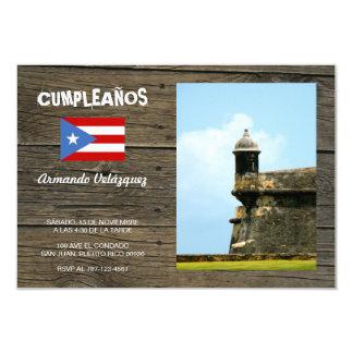 Puerto Rico 3.5x5 Paper Invitation Card