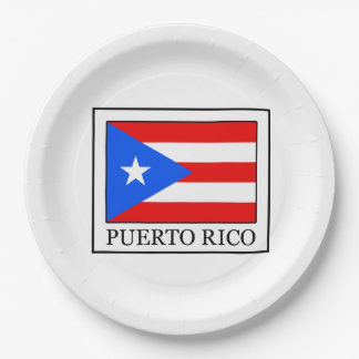 Puerto Rico 9 Inch Paper Plate