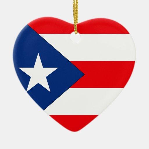 Puerto Rico Adorno De Cerámica En Forma De Corazón