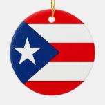 Puerto Rico Adorno Redondo De Cerámica