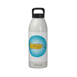 Puerto Rico Botella De Agua