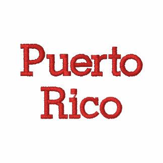 Puerto Rico, Allstar Sudadera Bordada Con Cremallera