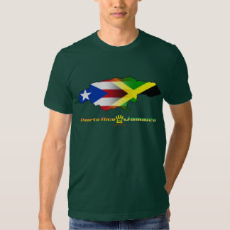 Puerto Rico and Jamaica Flag 2 Shirt