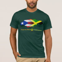 Puerto Rico and Jamaica Flag 2 T-Shirt