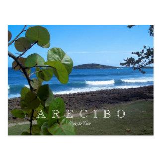 Puerto Rico Arecibo Beach Postcard