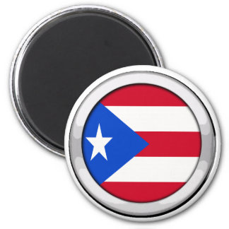 Puerto Rico Badge 2 Inch Round Magnet