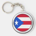 Puerto Rico Badge Keychain