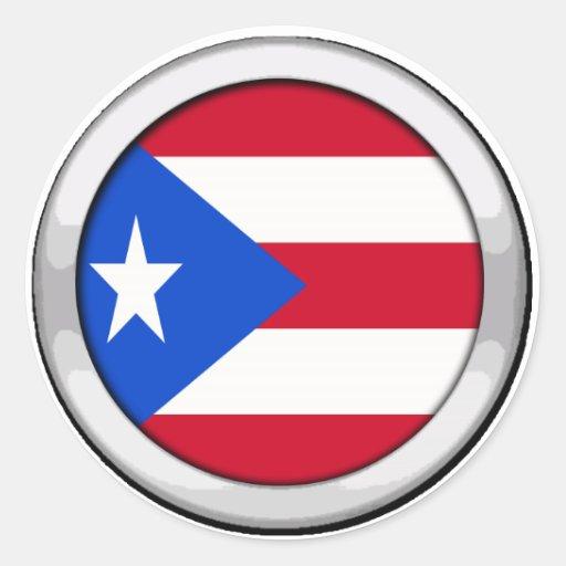 Puerto Rico Badge Stickers
