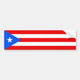 Puerto Rico/bandera de Rican. Estados Unidos, los  Etiqueta De Parachoque