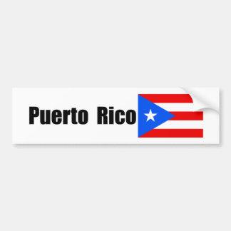 Puerto Rico, bandera puertorriqueña Pegatina De Parachoque