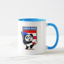 Combo Mug with Puerto Rico Baseball Panda design