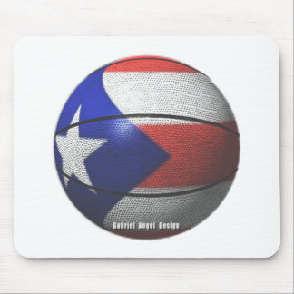 Puerto Rico Basketball Mouse Pad