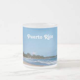 Puerto Rico Beach 10 Oz Frosted Glass Coffee Mug