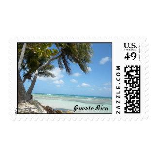 Puerto Rico Beach Postage Stamp