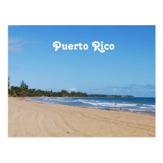 Puerto Rico Beach Postcard