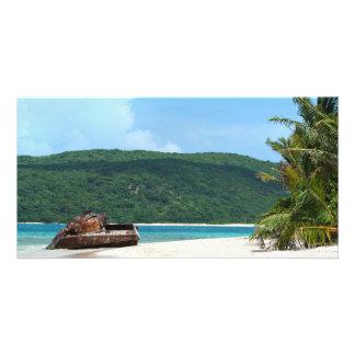 Puerto Rico Beach Tank Card