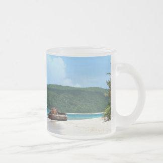 Puerto Rico Beach Tank 10 Oz Frosted Glass Coffee Mug