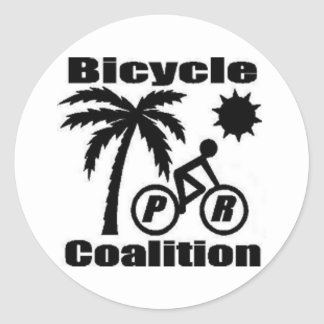 Puerto Rico Bicycle Coalition Round Sticker 3""