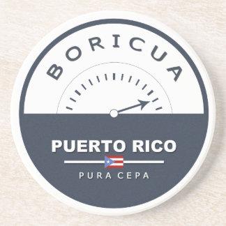 Puerto Rico Boricua de Pura Cepa Barware Coaster
