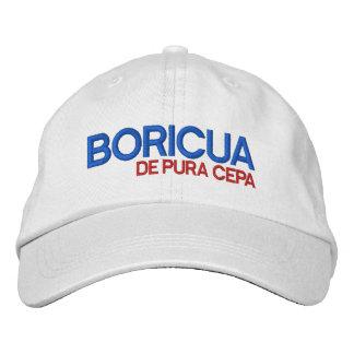 Puerto Rico: Boricua de Pura Cepa Gorra Bordada
