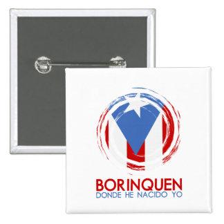 Puerto Rico Borinquen 2 Inch Square Button