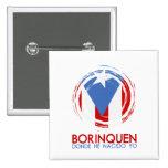 Puerto Rico Borinquen Pin Cuadrada 5 Cm