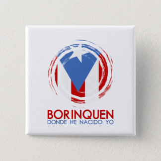 Puerto Rico Borinquen Pinback Button