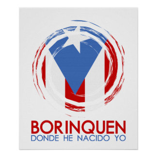 Puerto Rico Borinquen Póster