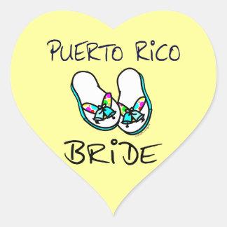 Puerto Rico Bride Heart Sticker