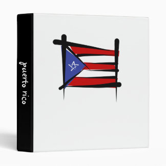 Puerto Rico Brush Flag Binder