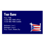 Puerto Rico Brush Flag Business Card Template